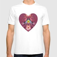 Magpie Love Mens Fitted Tee White SMALL
