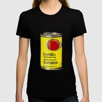 No Name Brand Tomato Sou… Womens Fitted Tee Black SMALL