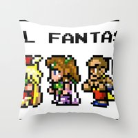 Final Fantasy II Characters Throw Pillow