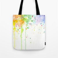 Watercolor Rainbow Tote Bag