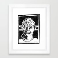 Mr. K - Mugshot Framed Art Print
