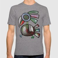 Parrot Mens Fitted Tee Tri-Grey SMALL