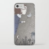 twilight iPhone & iPod Cases featuring Winter Twilight by Judith Clay