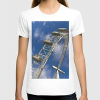 The London Eye Womens Fitted Tee White SMALL