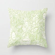 Flower Ladies Throw Pillow