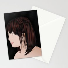 japan girl Stationery Cards