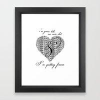 Cross My Heart, Cross My… Framed Art Print