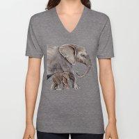Elephants Unisex V-Neck