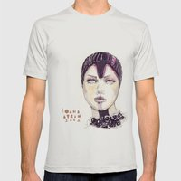 Fashion illustration  Mens Fitted Tee Silver SMALL