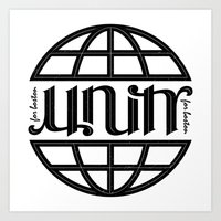 Unity Ambigram For Bosto… Art Print