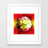 football  spain Framed Art Print