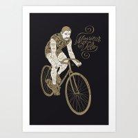 Monsieur du vélo Art Print