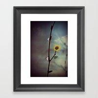 Raindrops & Sunflowers Framed Art Print