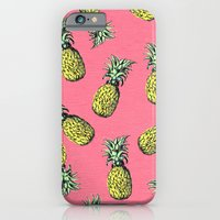 iPhone Cases featuring fresh pineapple! by penelope prince