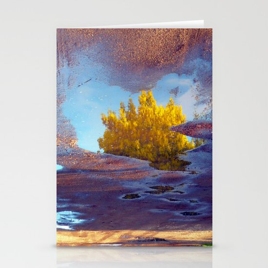 Spring in a puddle! Stationery Card