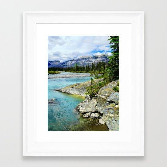 turquoise river Framed Art Print