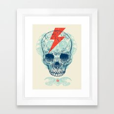 Skull Bolt Framed Art Print