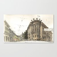 Basel Sketchbook Canvas Print