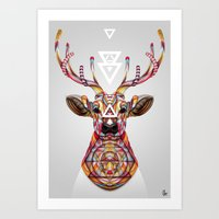 """Art Prints featuring """"OH Deer"""" by Giulio Rossi by Giulio Rossi"""