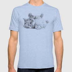 Rub my belly... Mens Fitted Tee Athletic Blue SMALL