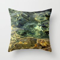 Water surface (3) Throw Pillow