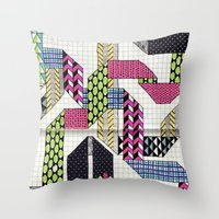 Ribbons With Patterns Throw Pillow