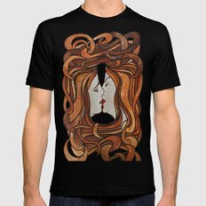 Lesbian Kiss (Art Nouveau Style)  Mens Fitted Tee SMALL Black