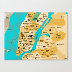 Paris Sur New York Canvas Print