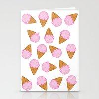 ice cream Stationery Cards featuring Ice Cream by Adrian Lungu