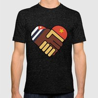 Hands Of Friendship Mens Fitted Tee Tri-Black SMALL