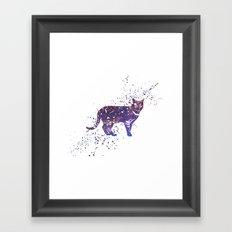 Cat Galaxy Framed Art Print