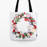 Floral Wreath Tote Bag