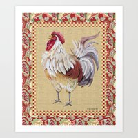 Whitney Farms Rooster Art Print