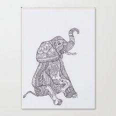 Lucky Elephant Canvas Print