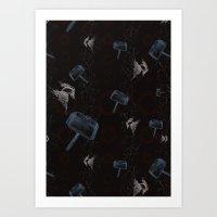 Lightning Thor Art Print