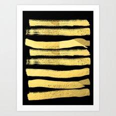 Sochie - Black Gold Mini… Art Print