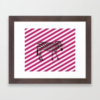 Nerd Zebra (Pink) Framed Art Print