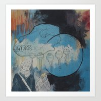 Death Dogs A Circle And … Art Print