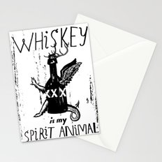 Whiskey Is My Spirit Animal Stationery Cards