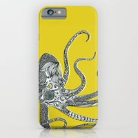octopus iPhone & iPod Cases featuring Octopus by Rachel Russell