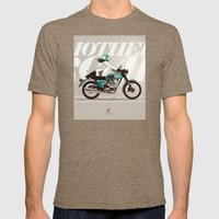 The Mother Road Mens Fitted Tee Tri-Coffee SMALL