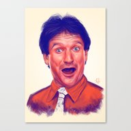 Young Robin Williams  Canvas Print