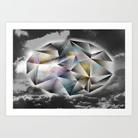 Polygon Heaven Art Print