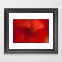 Red Gladiola Petal Framed Art Print