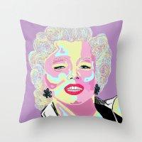Marilyn M Throw Pillow