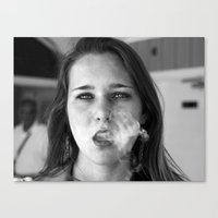 Smoker And The Thief  Canvas Print