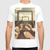 Empty Frame Mens Fitted Tee White SMALL