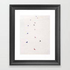 i'd rather be skiing Framed Art Print