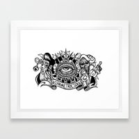 zombie rock Framed Art Print