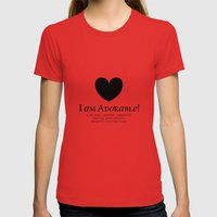 I am Adorable! Womens Fitted Tee Red SMALL